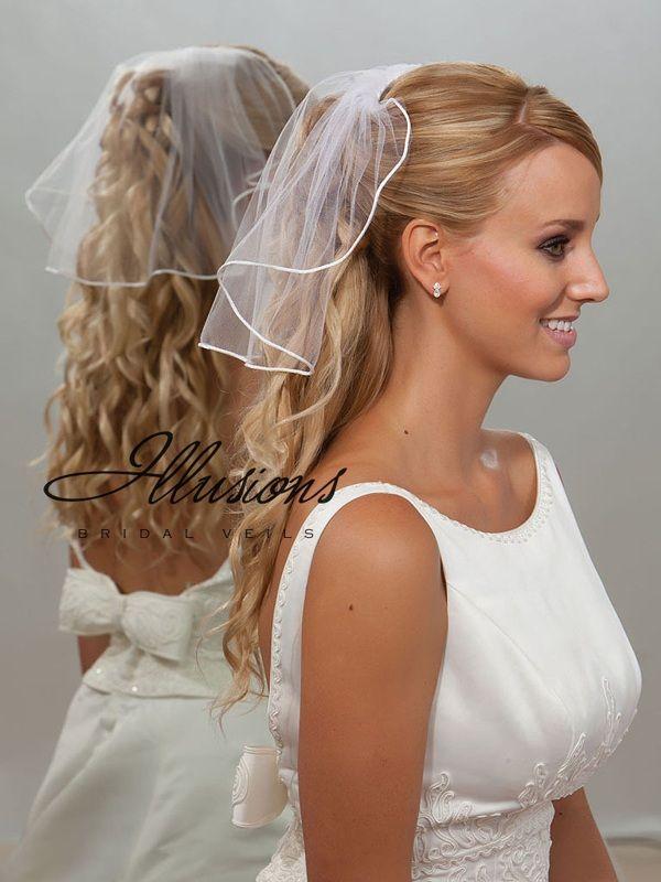 Illusions Bridal Rattail Edge Veil 5-151-RT: Pearl Accent
