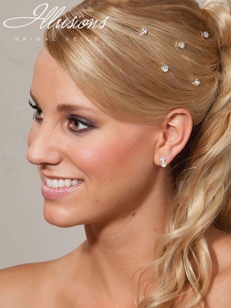 Illusions Bridal Hair Accessories 3254: Silver