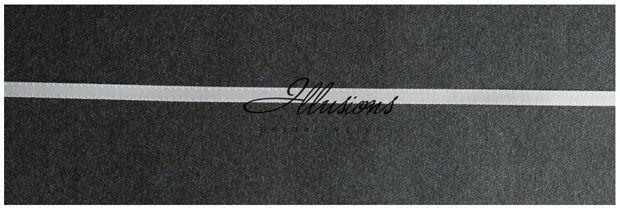 Illusions Bridal Ribbon Edge Veil C7-202-1R: Rhinestone Accent