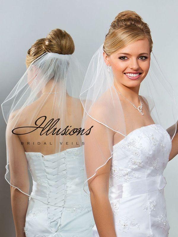 Illusions Bridal Soutache Edge Veil 7-251-ST