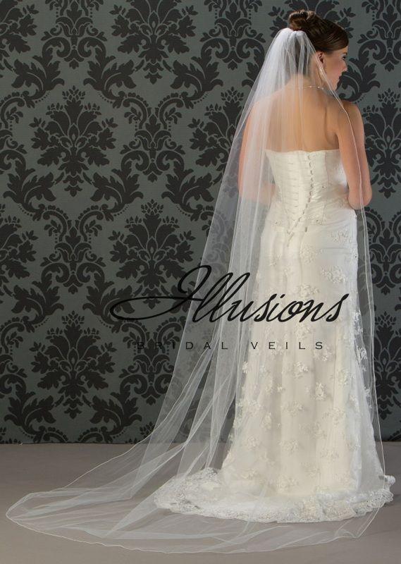 Illusions Bridal Corded Edge Veil 7-901-C: Ivory