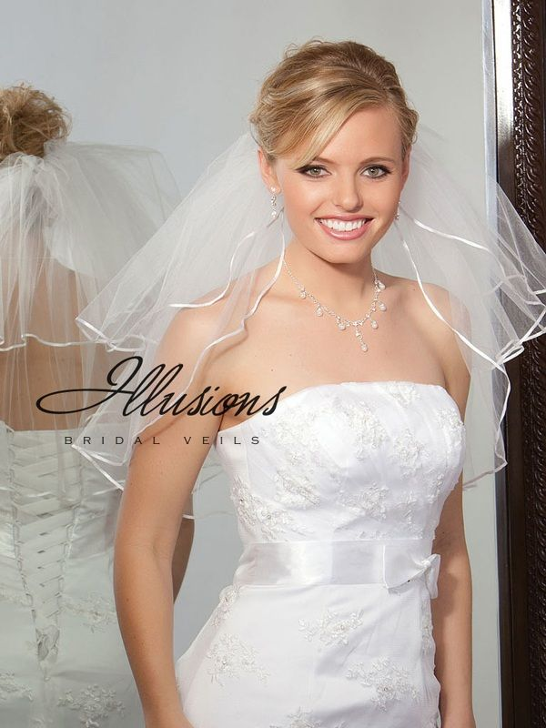 Illusions Bridal Ribbon Edge Veil S1-202-1R