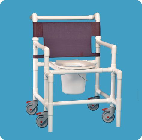 Shower Chair Commode W/round Seat 450# Capacity