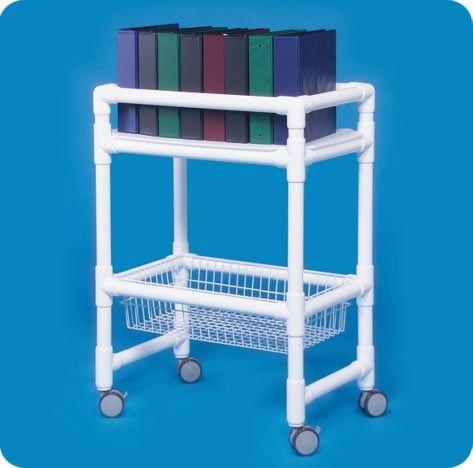 Notebook Chart Rack W/wire Basket