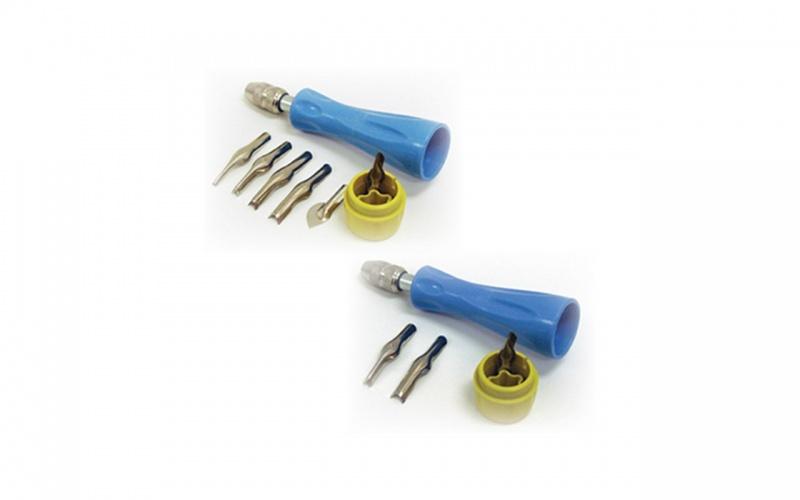 """quick Release"" Lino Cutter Sets Inovart Quick Release Lino Cutter Set No. 2 - 1 Handle, #1,3 Knives"