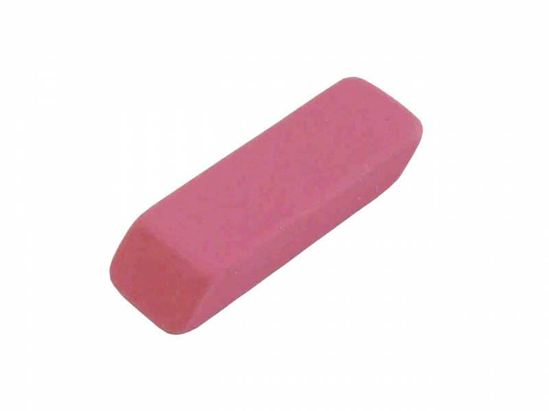 """""""big-pink"""" Pink Beveled Erasers"""