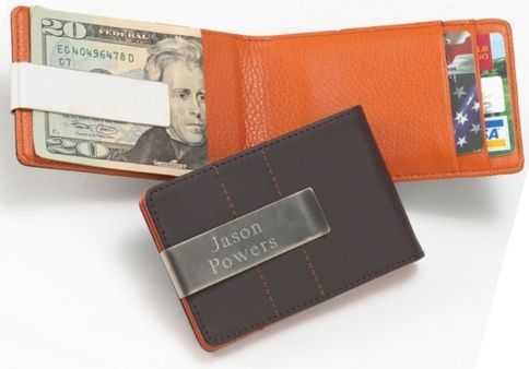 Monogram Wallet & Money Clip - Leather