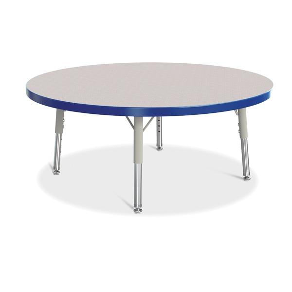 "Berries®Round Activity Table - 36"" Diameter, T-Height - Gray/Blue/Gray"