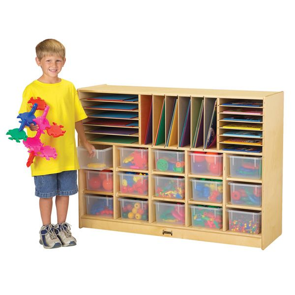 Jonti-Craft®Sectional Cubbie-Tray Mobile Unit - Without Trays