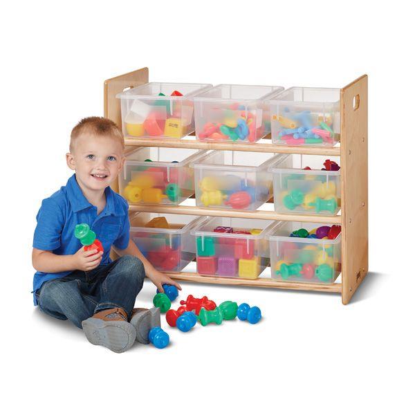 Jonti-Craft®Cubbie-Tray Storage Rack - With Clear Cubbie-Trays