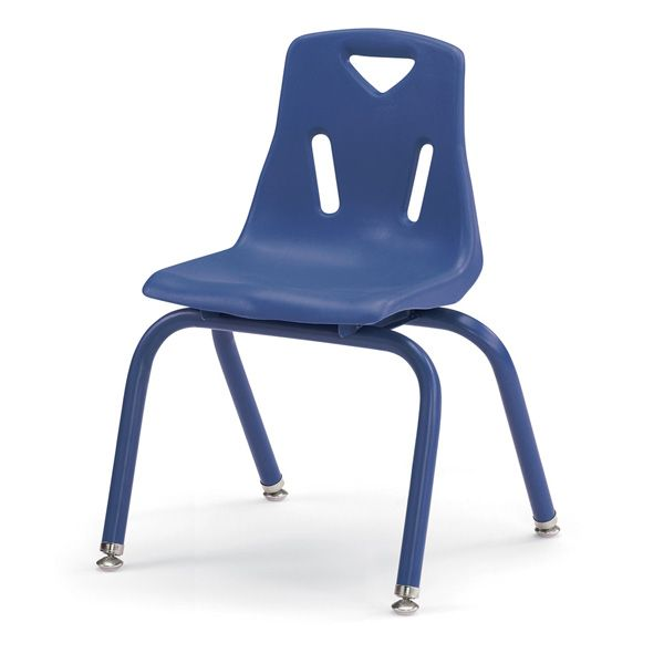 """Berries®Stacking Chairs With Powder-Coated Legs - 14"""" Ht - Set Of 6 - Teal"""