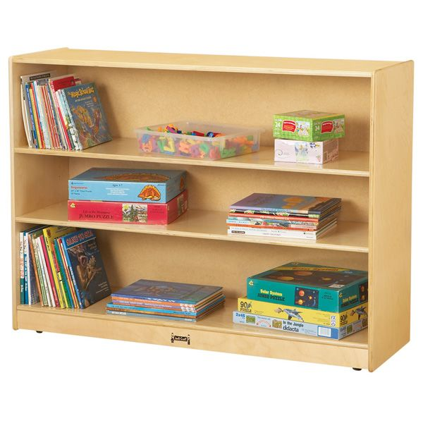 Jonti-Craft®Super-Sized Adjustable Mobile Straight-Shelf