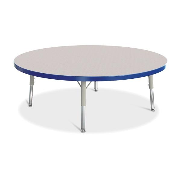 "Berries®Round Activity Table - 42"" Diameter, T-Height - Gray/Blue/Gray"
