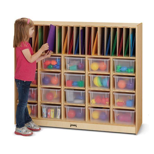Jonti-Craft®Classroom Organizer - With Clear Cubbie-Trays