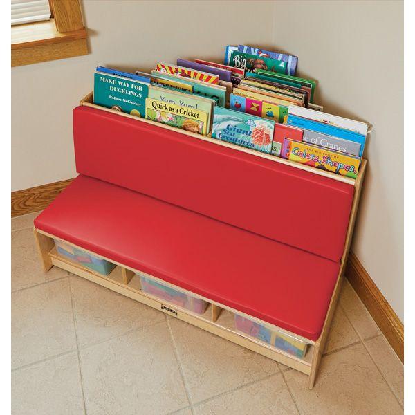 Jonti-Craft®Corner Literacy Nook - Red