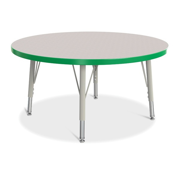 "Berries®Round Activity Table - 36"" Diameter, E-Height - Gray/Green/Gray"