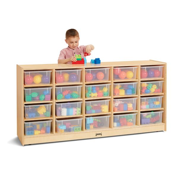 Jonti-Craft®20 Tub Mobile Storage - With Clear Tubs
