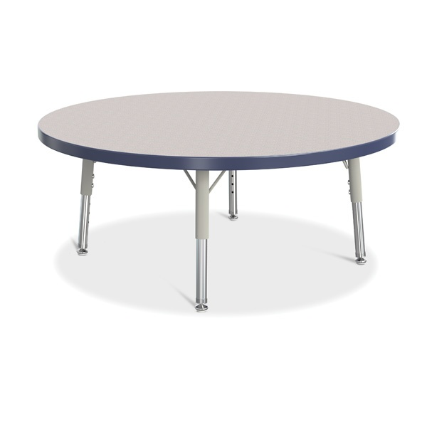 "Berries®Round Activity Table - 36"" Diameter, T-Height - Gray/Navy/Gray"