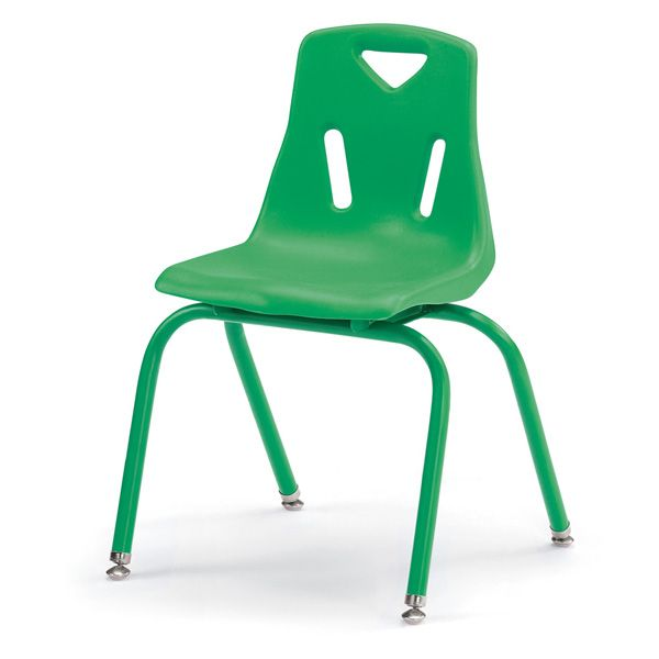 """Berries®Stacking Chairs With Powder-Coated Legs - 16"""" Ht - Set Of 6 - Teal"""