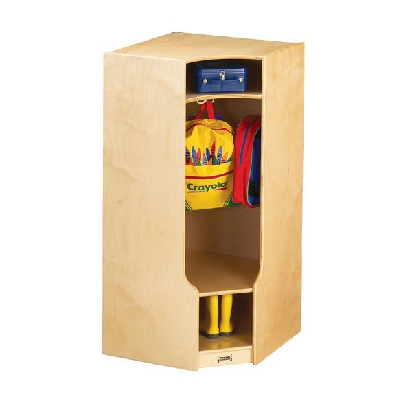 Jonti-Craft®Corner Coat Locker With Step