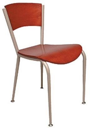 """KFI 3818C-WS """"3800"""" Series Cafe Chairs with Wood Seat: Without Arms"""