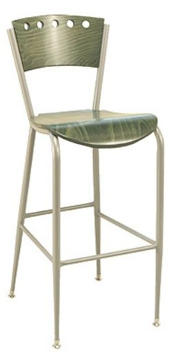 """KFI BR3818A-WS """"3800"""" Series Cafe Chairs with Wood Seat: Without Arms"""