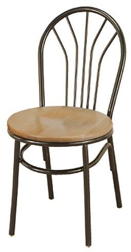 """KFI 3251-US """"3200"""" Series Cafe Chair with Upholstered Seat"""