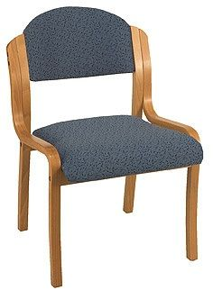 """KFI 1920-V """"1900"""" Series Wood Stack Chair with Grade 1 Fabric: 2"""" Seat, Without Arms"""