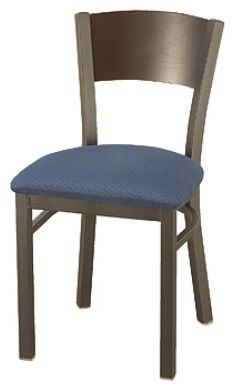 """KFI 3306-US """"3300"""" Series Metal Back Cafe Chair with Upholstered Seat"""