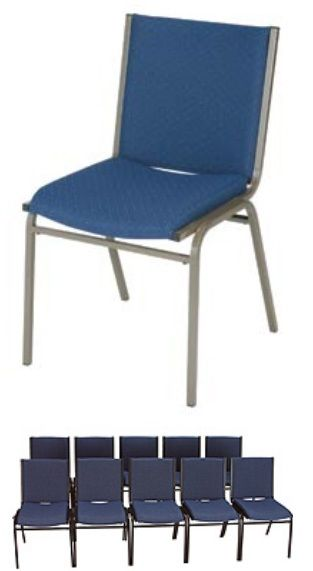 """KFI 420 """"400"""" Series 2"""" Seat Stack Chair with Grade 2 Fabric"""