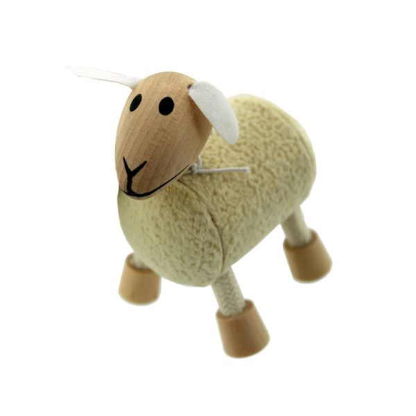 5Pk Wooden Sheep 14095