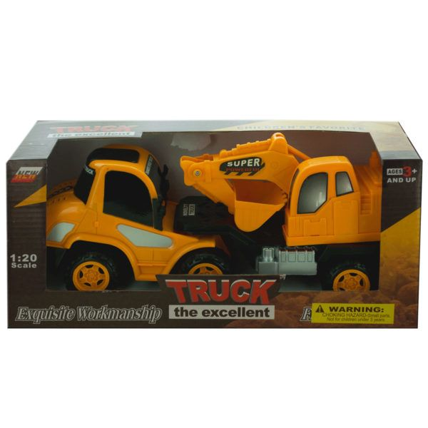 Friction Powered Toy Construction Truck, Pack Of 2
