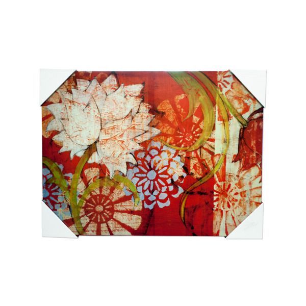 Abstract Red Floral Artwork