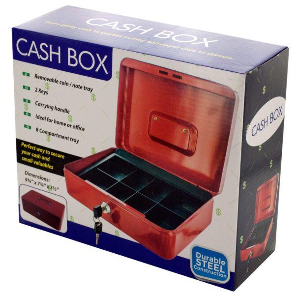 Multi-Compartment Steel Locking Cash Box
