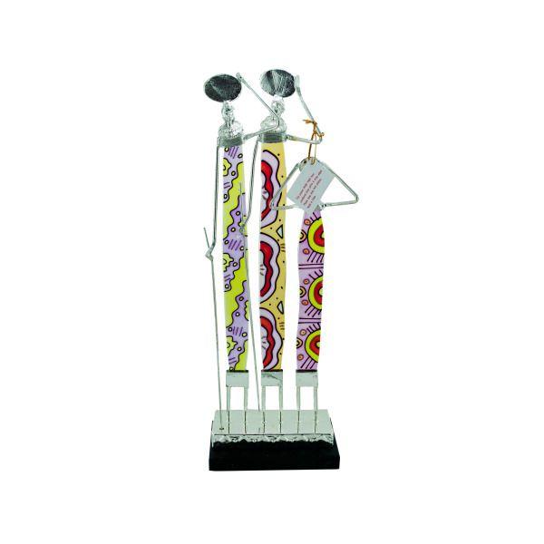 Masai Family Figurine, Pack Of 2