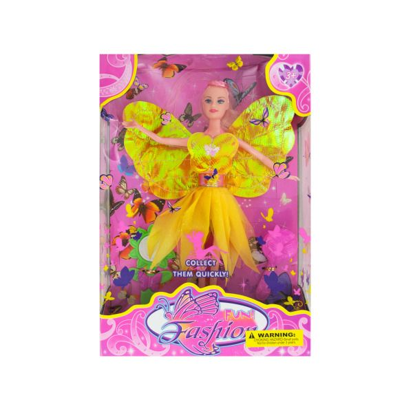 Fashion Doll With Butterfly Dress & Accessories