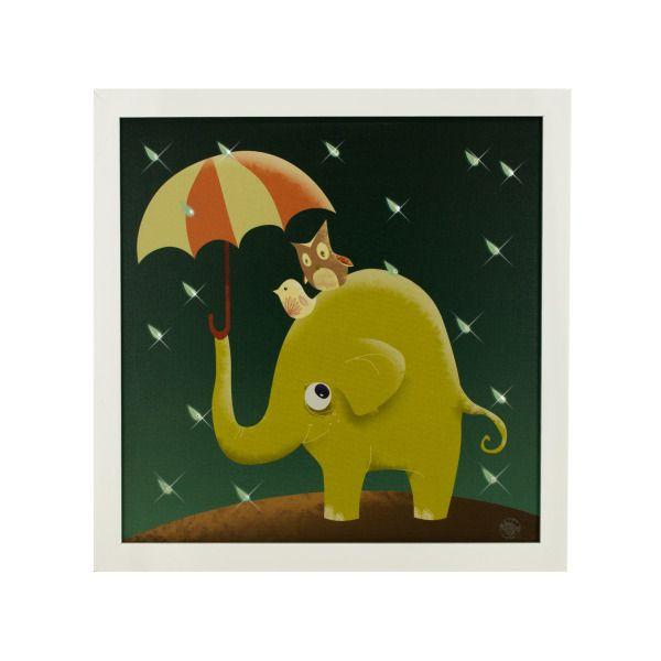 Raindrops Keep Falling Musical Light Up Art