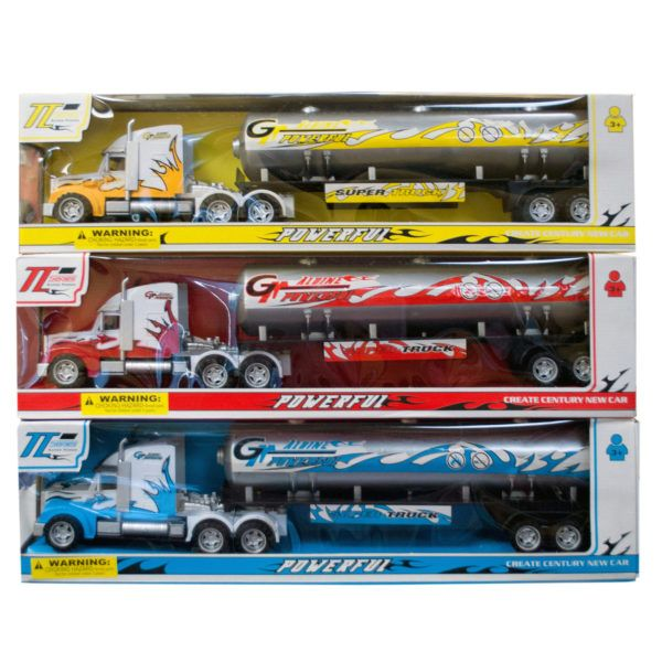 Friction Powered Oil Tank Truck, Pack Of 2