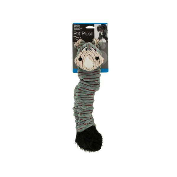 Safari Animal Plush Crinkle Dog Toy, Pack Of 2