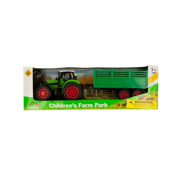 Friction Powered Farm Tractor Toy Set