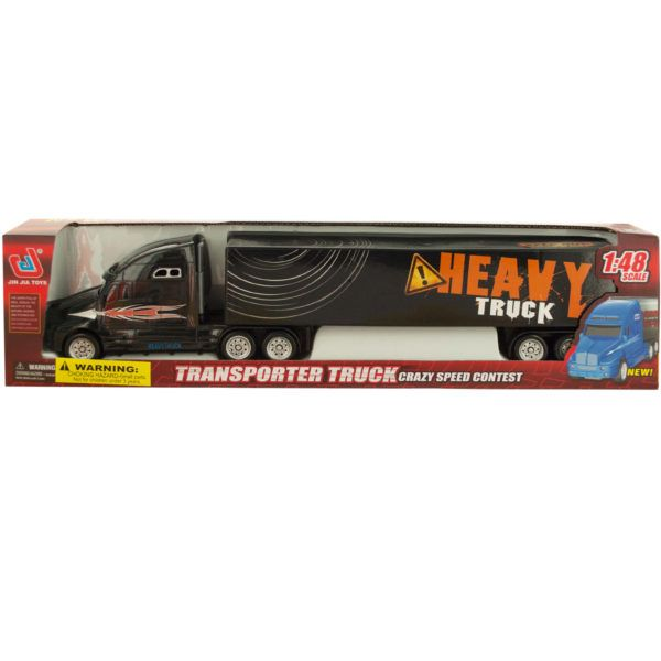 Friction Powered Transporter Trailer Truck, Pack Of 2