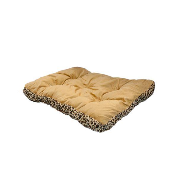 Rectangular Leopard Print Pet Bed