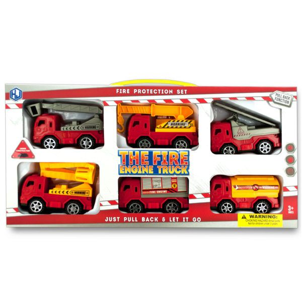 Fire Engine Truck Set, Pack Of 2