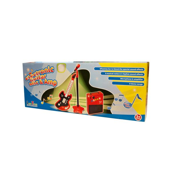 Electronic Guitar With Microphone & Amplifier Play Set
