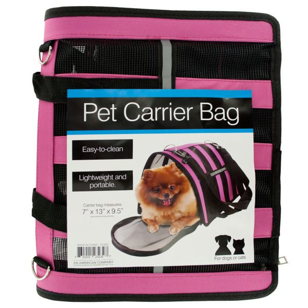 Vented Pet Carrier Bag With Reflective Stripes, Pack Of 2