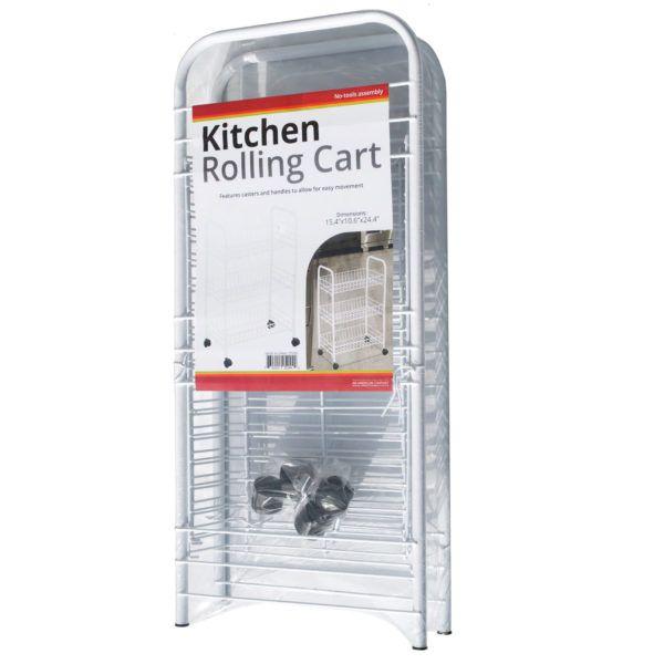Medium 3-Tier Rolling Kitchen Cart, Pack Of 2