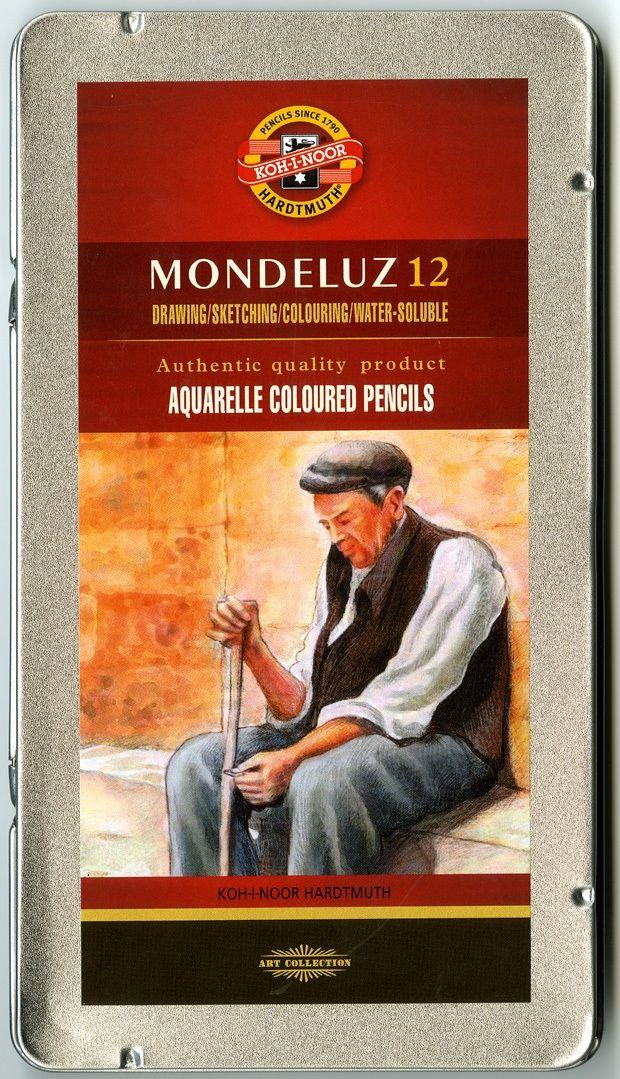 Mondeluz Aquarell Pencil Set, 12 Piece, Assorted Colors In A Tin