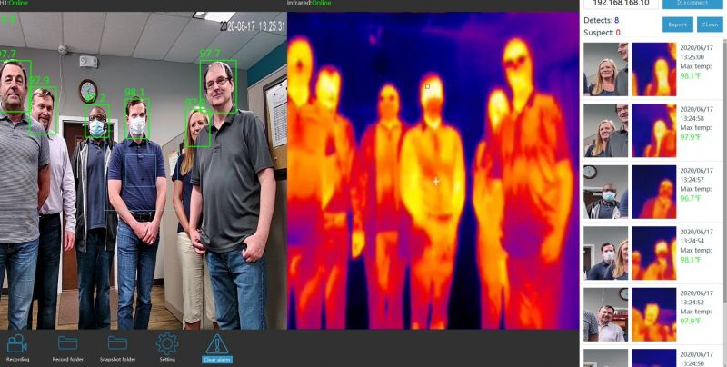 30 Person Thermal Image Body Temperature Camera - Tmt30