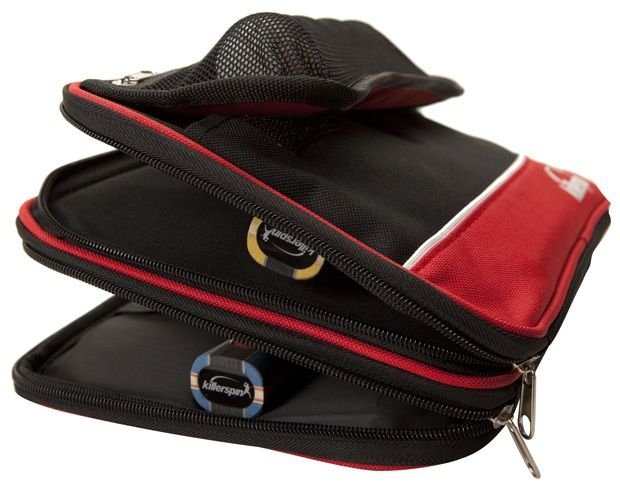 Killerspin Optima Paddle Case: Red\Black