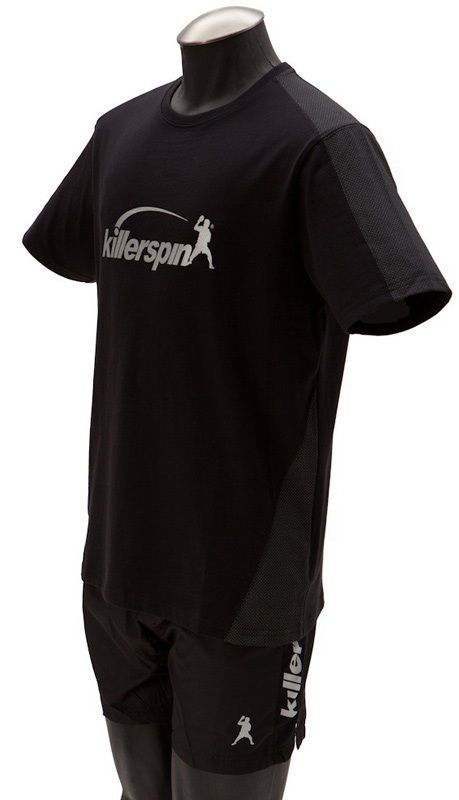 Killerspin Grate Shirt: Black/Grey, Small